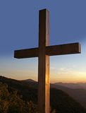 Cross in the mountains. Beautiful cross in the mountains Stock Photography