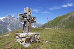 Cross on a moutain Stock Image
