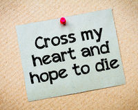 Cross my heart and hope to die Royalty Free Stock Images