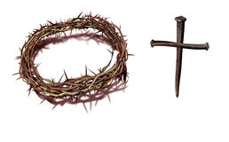 A cross with nails Stock Images