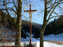Cross in nature Royalty Free Stock Images