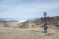 Cross near Baikal Royalty Free Stock Images