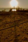 Cross near the water Royalty Free Stock Photos