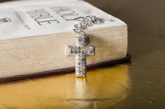 Cross neclace Royalty Free Stock Photo