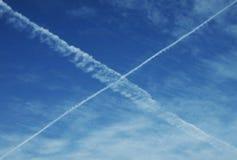 cross niebo Zdjęcie Stock