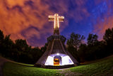 Cross at night Royalty Free Stock Images