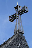 A cross at Notre-Dame des Hauteurs Royalty Free Stock Images