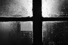 cross okno Zdjęcie Royalty Free