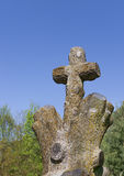Cross on old cemetery Royalty Free Stock Photo