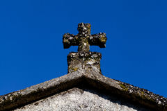 Cross on an old church Royalty Free Stock Images