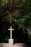 Cross in Old Fort Santiago, Manila, Philippines royalty free stock photo