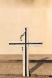 The cross on old wooden Stock Photos