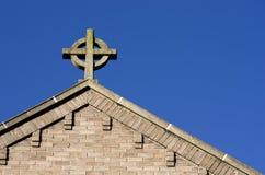 Free Cross On Church Roof On Blue Sky In Islington London UK Stock Photos - 66589413