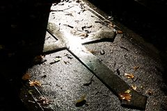 Cross On Grave Royalty Free Stock Photography