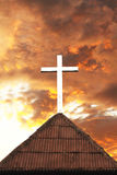 Cross On The Top Of Church Royalty Free Stock Photography