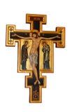 Cross Orthodox. Ikon of Cross Orthodox isolated on white background Stock Photos