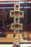Cross. Orthodox cross,adorned with gold and precious stones Stock Photos