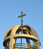 Cross on the orthodox church Stock Images