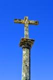 A cross outside the parish church in Salir Royalty Free Stock Photos