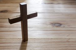Cross over wood table Stock Images