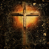 Cross on paper background Stock Photography