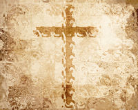 Cross on parchment Royalty Free Stock Photography