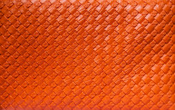Orange leather Stock Images