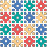 Cross pattern varied color Royalty Free Stock Photos