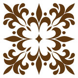 Cross patterned. Tile Stock Photo