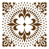 Cross patterned. Tile Stock Photos
