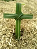 Cross of peace. Nature thanking christ Stock Photos