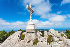 Cross, Pena Palace. Cross on the top a hill near Pena National Palace, Sintra, Portugal Stock Photography