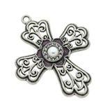 Cross pendant isolated Royalty Free Stock Image