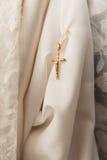 Cross pendant on white Royalty Free Stock Photos
