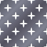 Cross perforated pattern. Royalty Free Stock Photo