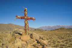 Cross in Peru Royalty Free Stock Image
