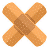 Cross Plasters Flat Icon Isolated on White Royalty Free Stock Photo