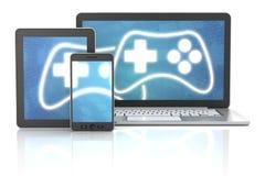 Cross platform gaming Stock Photography