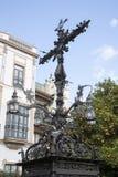 Cross in Plaza Santa Cruz Square, Seville Royalty Free Stock Photo