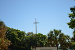 Cross at Ponce De Leon's landing Royalty Free Stock Photography
