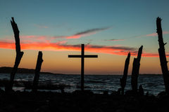 Cross Posts Royalty Free Stock Images