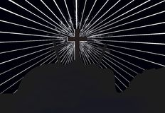 Cross of power Stock Photo