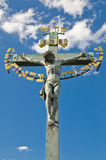 Cross in Prague with blue Sky Stock Photography