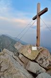 Cross on Predne Solisko Peak, Slovakia. stock image