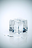 Cross Processe melting ice cube Stock Image