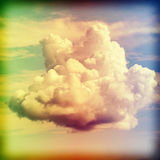 Cross processed old film style picture of a cloud Royalty Free Stock Image