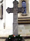 Cross in Putna Monastery, Suceava. Royalty Free Stock Images