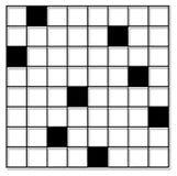 cross puzzle słowo Fotografia Royalty Free