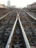 Cross railway Stock Photos