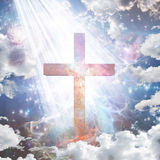 Cross in light Royalty Free Stock Photo
